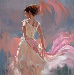White Dress Breeze by Mark Spain -  sized 24x24 inches. Available from Whitewall Galleries